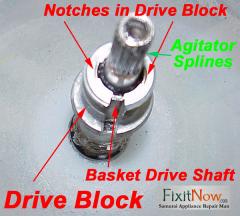 Whirlpool Direct Drive Washer Drive Block