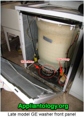 Behind The Front Panel of a Late Model GE Washing Machine