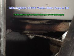 Oldie Frigidaire LC-248J Washer Motor Pump Belt: Belt and Idler Pulley Detail