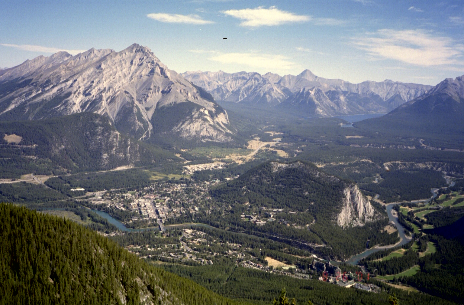 View of Banff from the Tram Platform