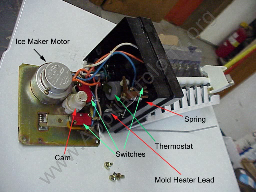 Whirlpool Old-Style Icemaker, Inside the Control Head