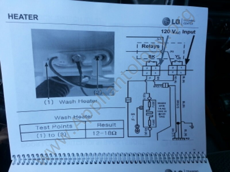 LG Titan Washer Training: Heater