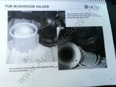 LG Titan Washer Training: Tub Mushroom Valves