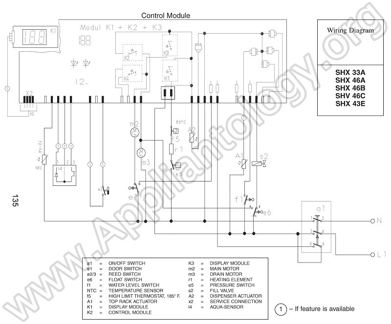bosch dishwasher wiring diagram the appliantology gallery rh appliantology org wiring diagram for dishwasher motor wiring diagram for ge dishwasher