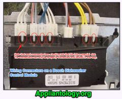 Wiring Connectors On A Bosch Dishwasher Control Module