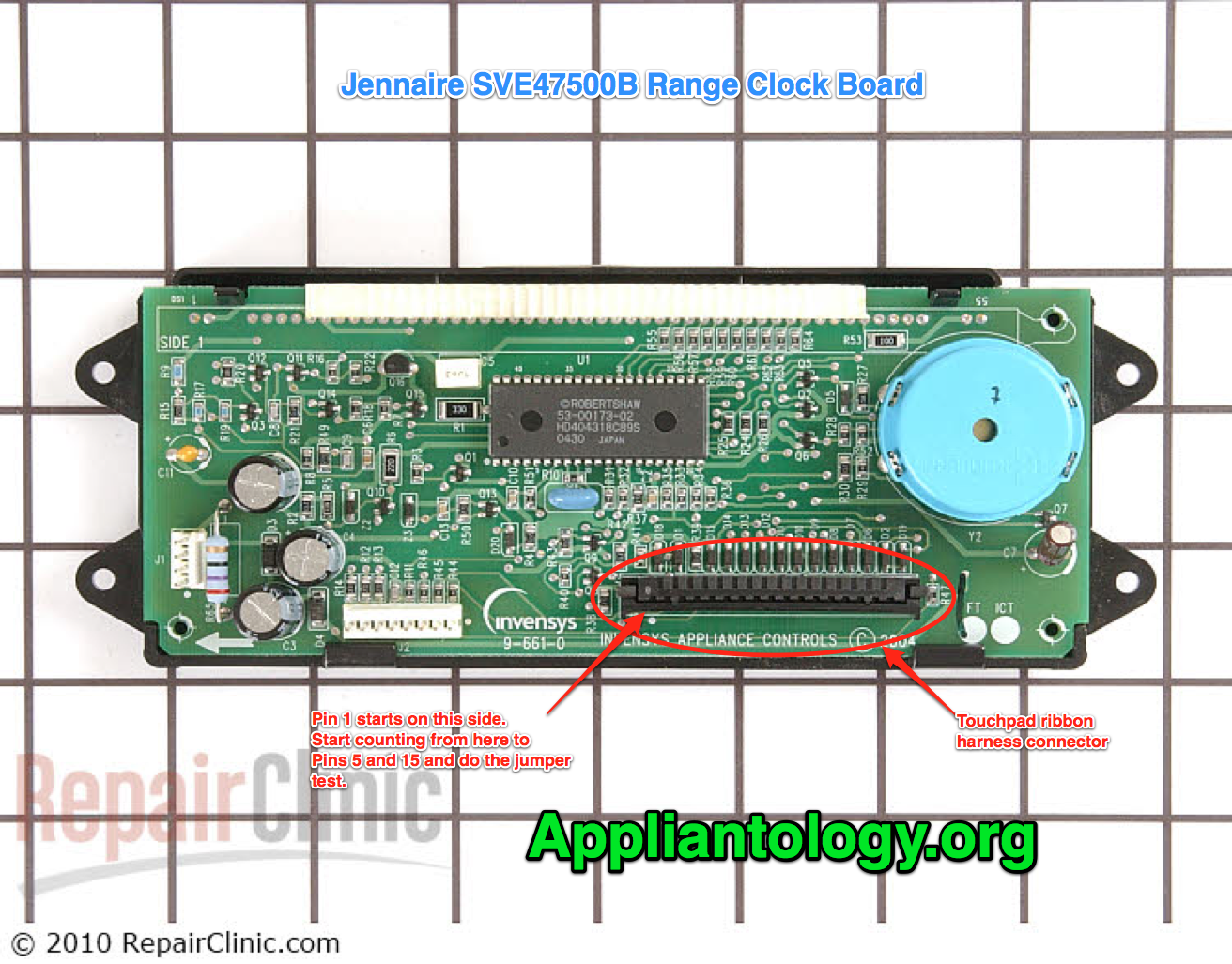 Jenn-Air SVE47500B range clock board esoteric repair kata