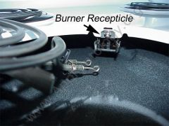 Burner Receptacle for a Typical Electric Stove Burner Element