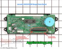 Jenn-Air SVE47500B range clock board esoteric repair kata