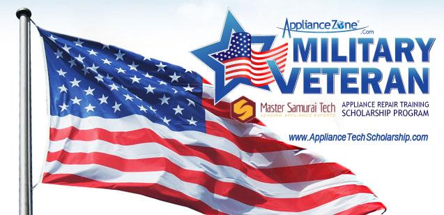 Appliance Tech Training Scholarship Program for Military Veterans