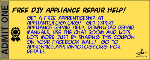 Get Free DIY Appliance Repair Help with this Appliantology Apprentice Coupon