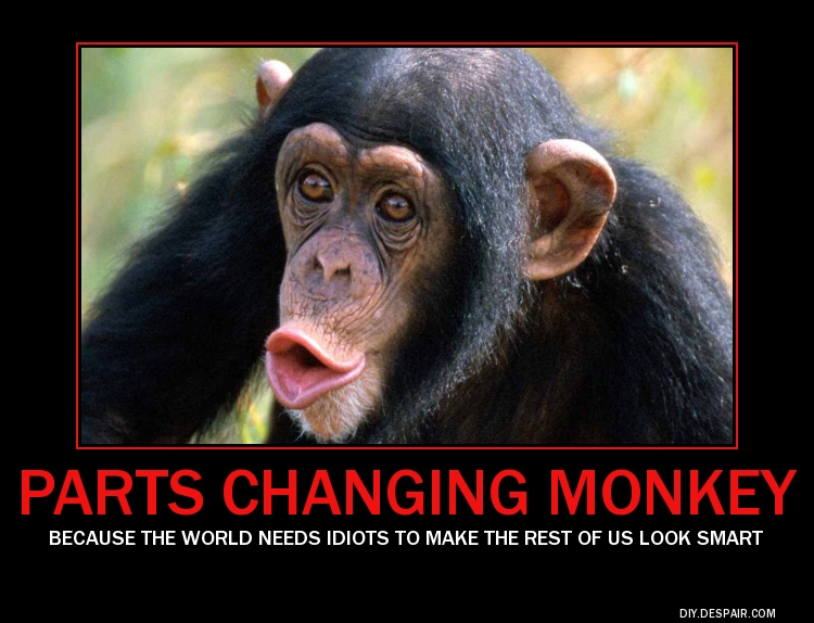 Parts Changing Monkey Motivational Poster The