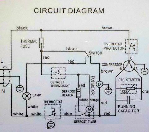reading wiring diagrams how the defrost cycle works in a danby rh appliantology org Unit Heater Wiring Diagram Electric Water Heater Wiring Diagram