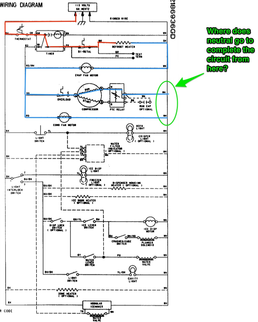 Whirlpool Ed25rfxfw01 Refrigerator Schematic - The Appliantology Gallery - Appliantology Org