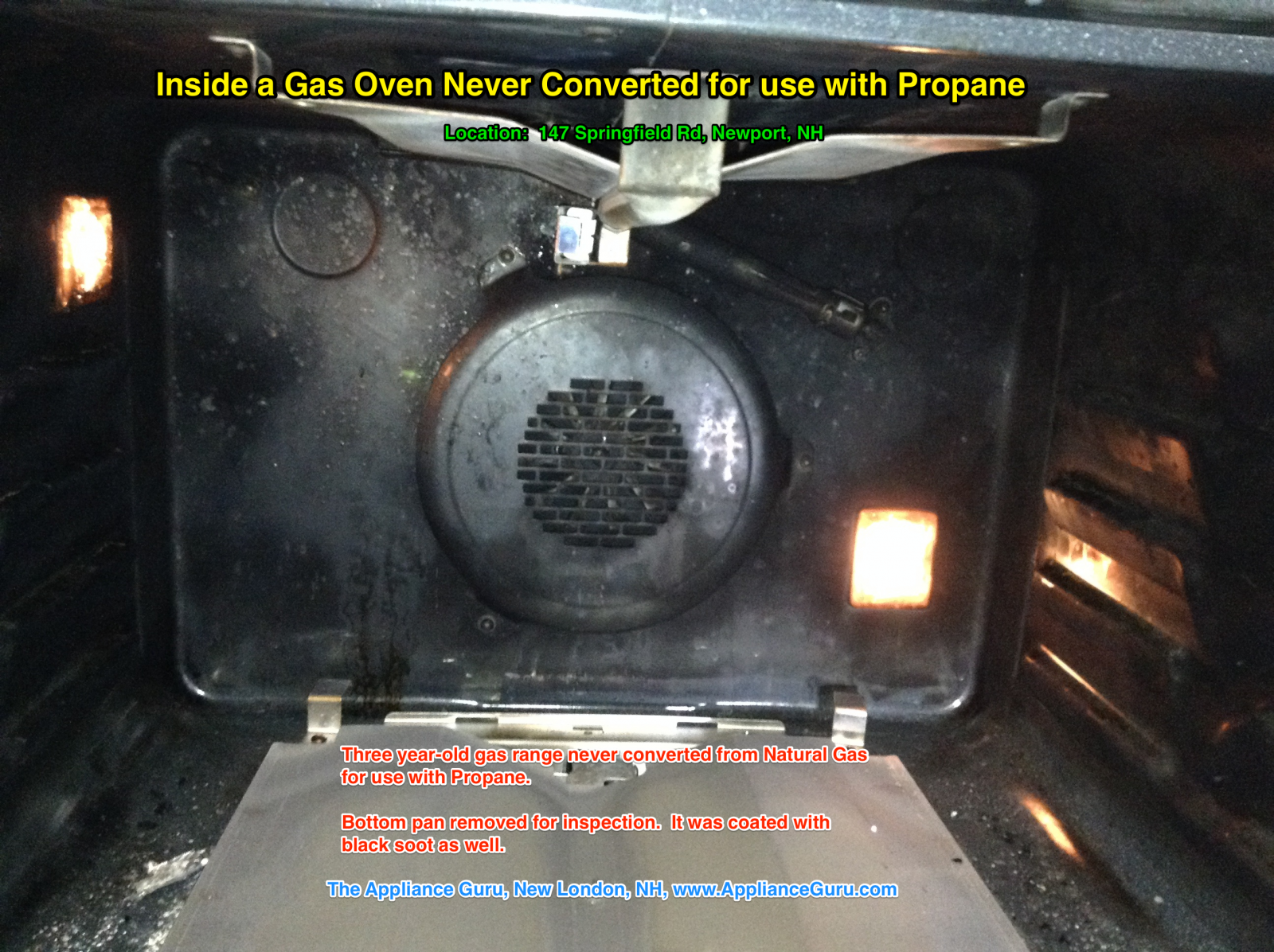 Inside A Gas Oven Never Converted For Use with Propane