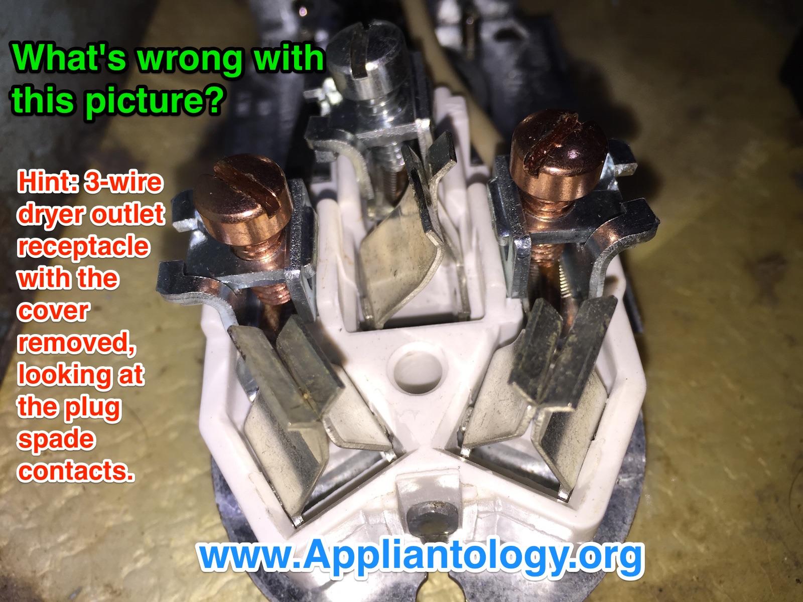 Damaged Dryer Outlet Receptacle