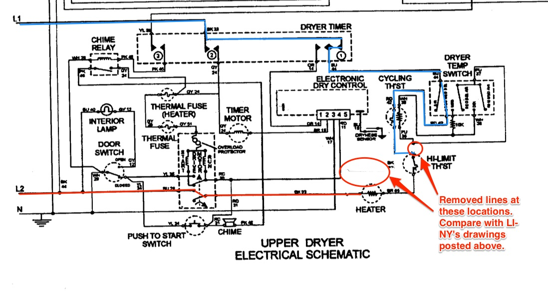 Maytag Mle2000ayw Dryer Schematic Corrected - The Appliantology Gallery - Appliantology Org