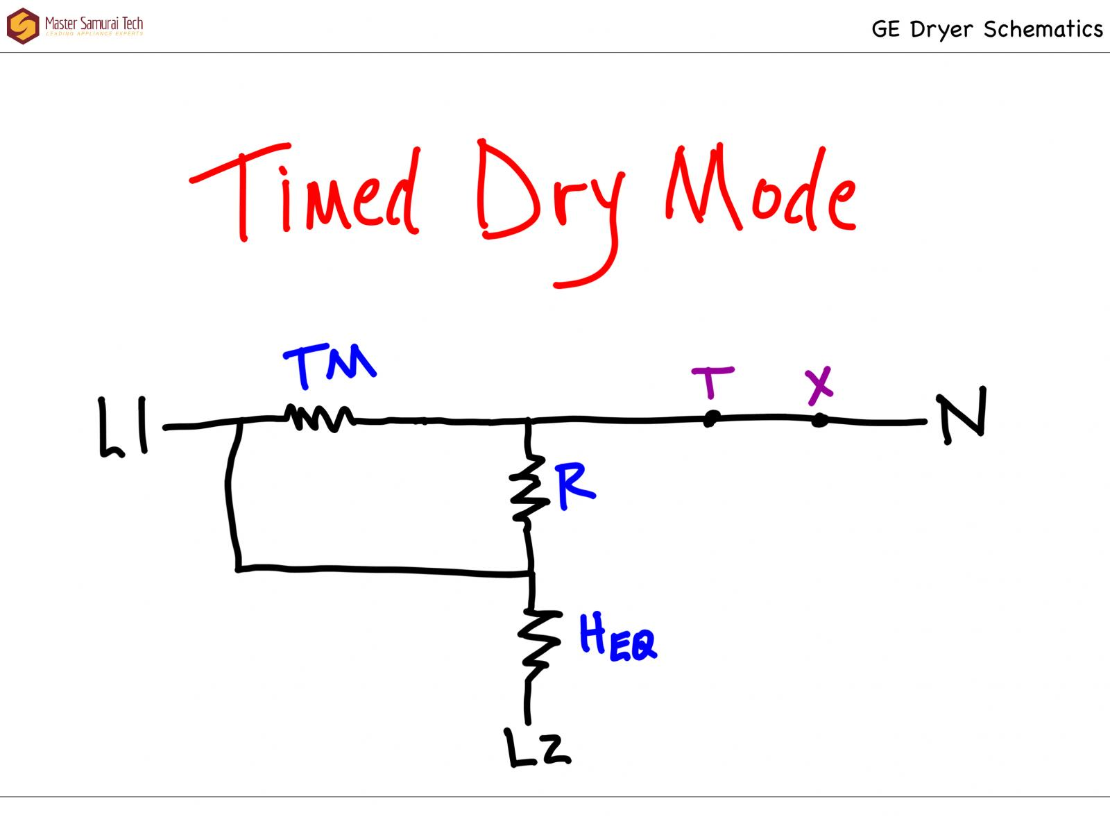 GE DBXR463ED1 Dryer Timed Dry Sketch