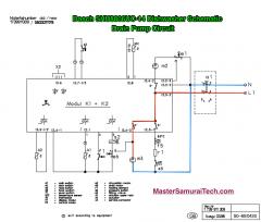 Bosch SHU8806UC-14 Dishwasher Schematic 58300000020476