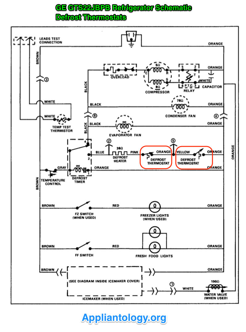 Ge Gts22jbpb Refrigerator Schematic - The Appliantology Gallery - Appliantology Org