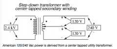 Center-tapped Transformer Secondary Voltages