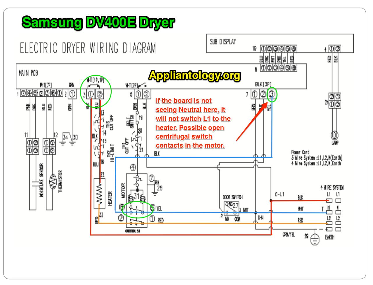 Samsung DV400E Dryer Schematic