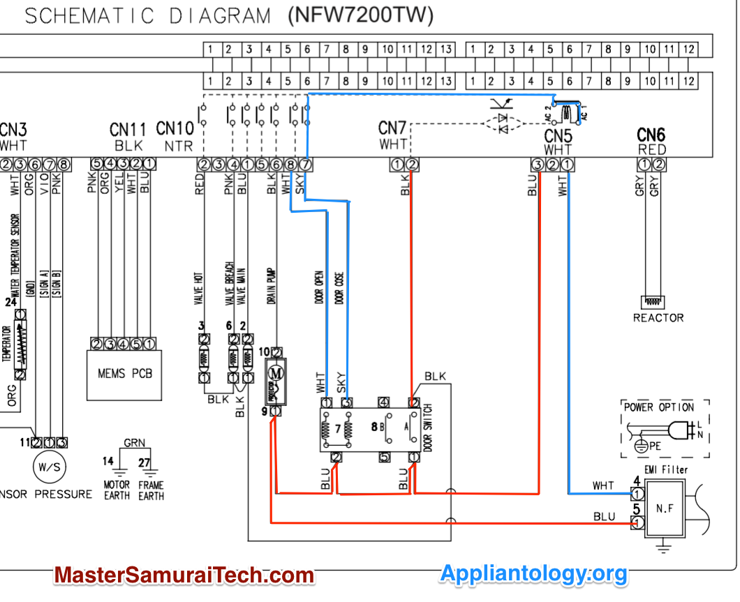 amana samsung nfw7200tw washer door lock schematic trace the amana washer wiring diagram amana samsung nfw7200tw washer door lock schematic trace