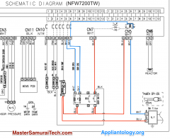 Amana Samsung NFW7200TW Washer Door Lock Schematic Trace