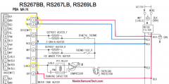 Samsung RS267 Refrigerator Partial Schematic