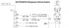 GE PFSS6PKX Refrigerator Defrost Heater Circuits