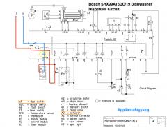 Bosch SHX99A15UC19 Dishwasher Dispenser Circuit