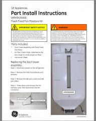 WR49X26666 Part Install Instructions Page 1