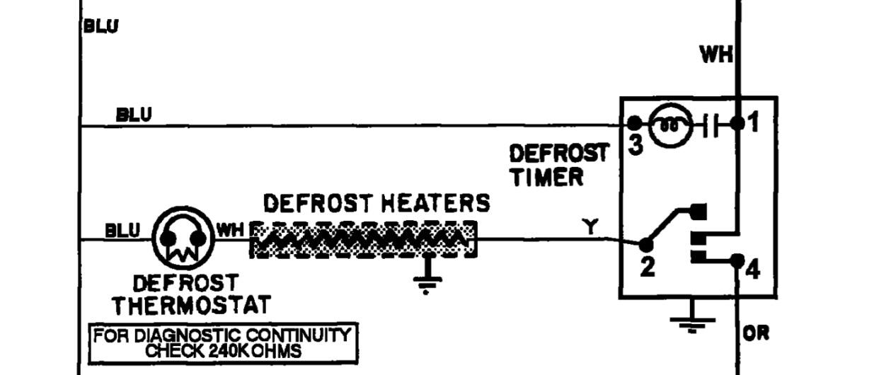mtb 2456aea maytag fridge  defrost problem
