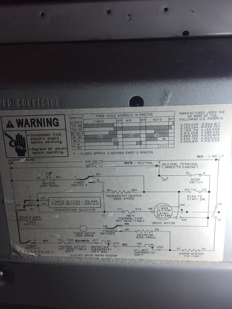 Kenmore Dryer Wiring Diagram Needed-timer Won U0026 39 T Go To End