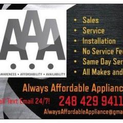 Always Affordable Appliance Experts