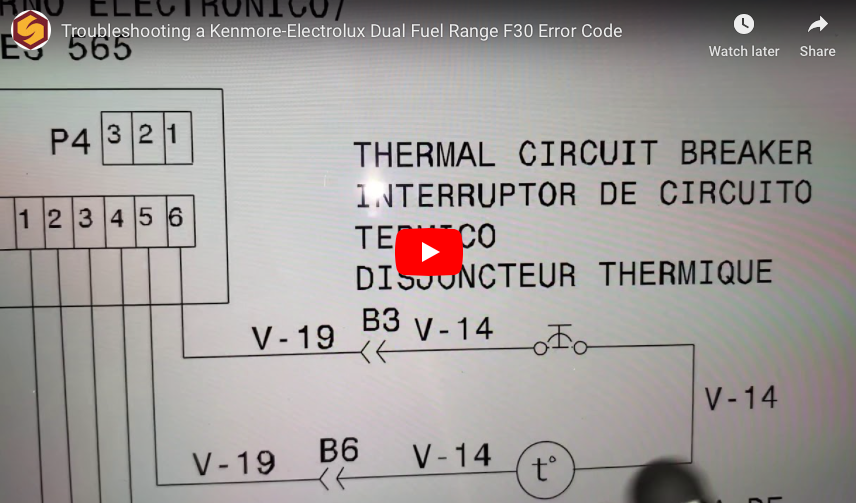 [video] Troubleshooting a Kenmore-Electrolux Dual Fuel Range F30 Error Code