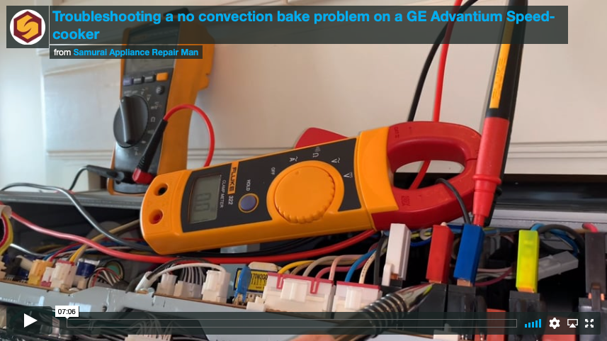 [video] Troubleshooting a no convection bake problem on a GE Advantium Speedcooker