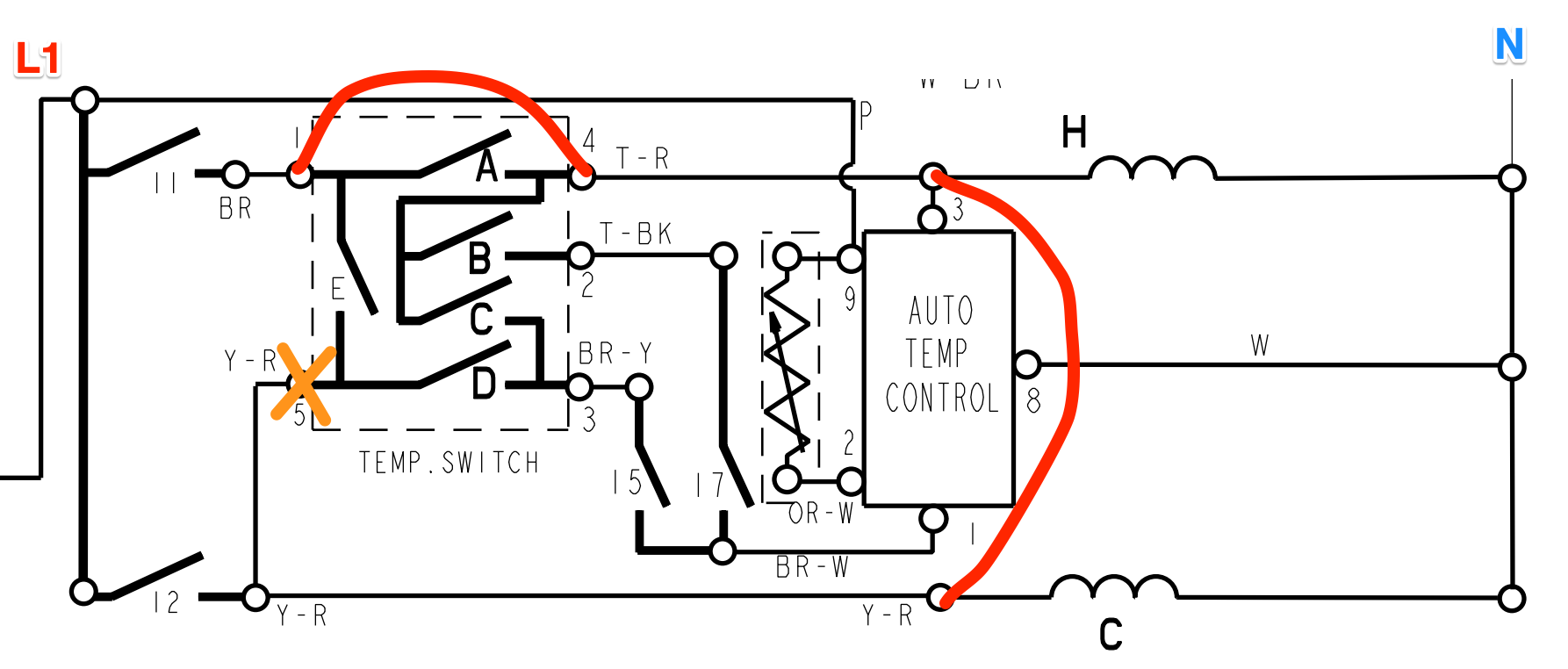 Bypassing the Auto Temp Control on a Whirlpool Washer
