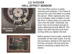LG WASHER HALL EFFECT SENSOR