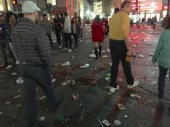 The Streets of New Orleans after the Parade