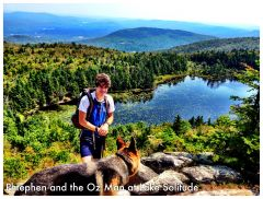 Phtephen and the Oz Man on the Sunapee Ridge Thru-hike