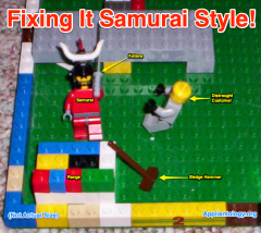 Live Web Cam Shot Catches the Samurai in a Real-Life Appliance Service Call