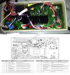 Samsung WF448AAP/XAA Washer Main PCB Map