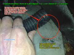 Drain Hose Wear Hole In A Whirlpool Top Load Direct Drive Washer