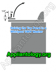 Raising  The Top Panel In A Whirlpool VMW Washer
