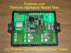 Kentucky Fried Main Control Board from An LG Front Load Washer