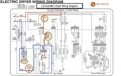 LG DLE4801 Dryer Wiring Diagram