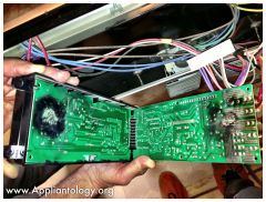 Kentucky Fried Control Board on a Frigidaire FEF352AWF Range: Inside View