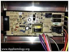 Kentucky Fried Control Board on a Frigidaire FEF352AWF Range: Macro View