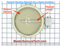 Typical Glass Cooktop Heating Element