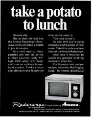 Amana Radarrange Microwave take A potato To work